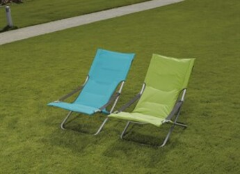 Plážová židle nastavitelná, zelená