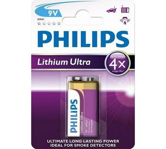 Baterie Philips Lithium Ultra 9 V 1ks