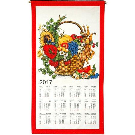 Textilní kalendář 2017 Košík, 35 x 65 cm
