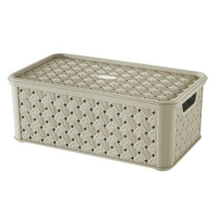 Tontarelli Úložný box s víkem Arianna 4 l, krémová