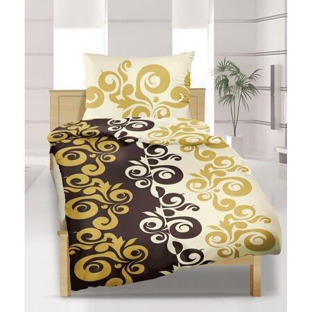 Lenjerie pat 1 pers. Retro, creponată, 140 x 220 cm, 70 x 90 cm