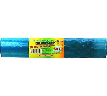 Zatahovací pytle na odpad 60 l, modrá