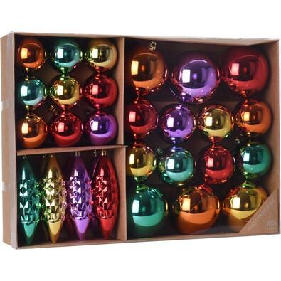 Sada vianočných ozdôb Colori, 31 ks