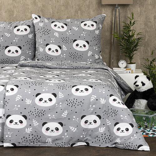 4Home Krepové povlečení Nordic Panda, 160 x 200 cm, 70 x 80 cm