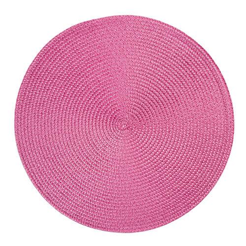 Deco alátét, kerek, rózsaszín, átmérő: 35 cm, 4 db-os szett