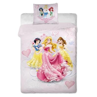 Dětské bavlněné povlečení Princess Elegance, 140 x 200 cm, 70 x 90 cm