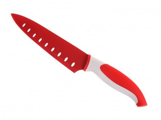Nerezový nůž, červená