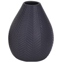 Koopman Kerámia váza Montroi sötét szürke, 15,5 cm