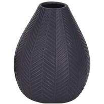 Koopman Keramická váza Montroi tmavosivá, 15,5 cm