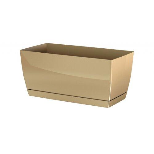 Fotografie Prosperplast Plastový truhlík Coubi Case s miskou kávová, 24 cm