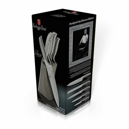 Berlinger Haus 6-dielna sada nožov v stojane Kikoza Collection, sv. sivá