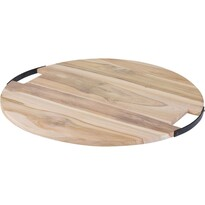 Koopman Dřevěné krájecí prkénko s úchyty, 49 x 1,5 cm