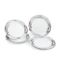 Levendula desszert tányér készlet, 6 ks, 19 x 2 cm