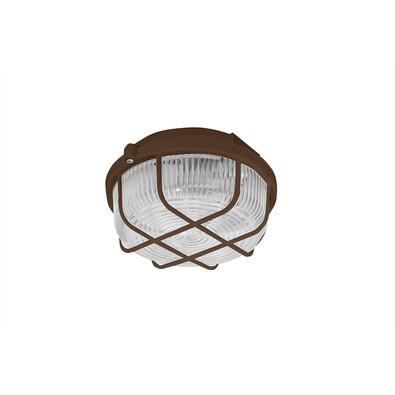 KRUH přisazené stropní a nástěnné kruhové svítidlo, 100W, hnědá