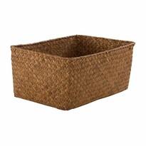 Compactor Ručně pletený úložný košík KITO 30 x 20 x 13 cm, karamel