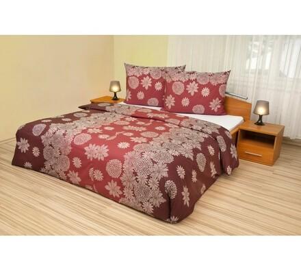 Bavlnené obliečky Vločky na vínovém, 240 x 200 cm, 2 ks 70 x 90 cm