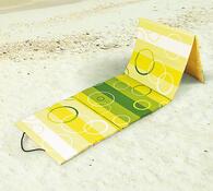 Skládací plážové lehátko, žlutá