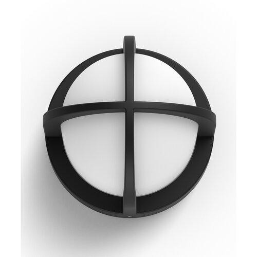 Philips 17380/30/PN Astilbe Vonkajšie nástenné  svietidlo 17 cm, čierna