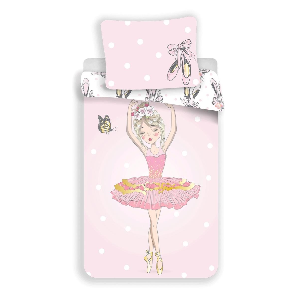 Jerry Fabrics Bavlnené obliečky Ballerina, 140 x 200 cm, 70 x 90 cm