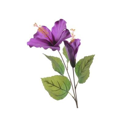 Umelý kvet ibišteka fialová, 71 cm