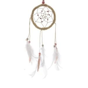 Lapač snů Beads růžová, 32 cm