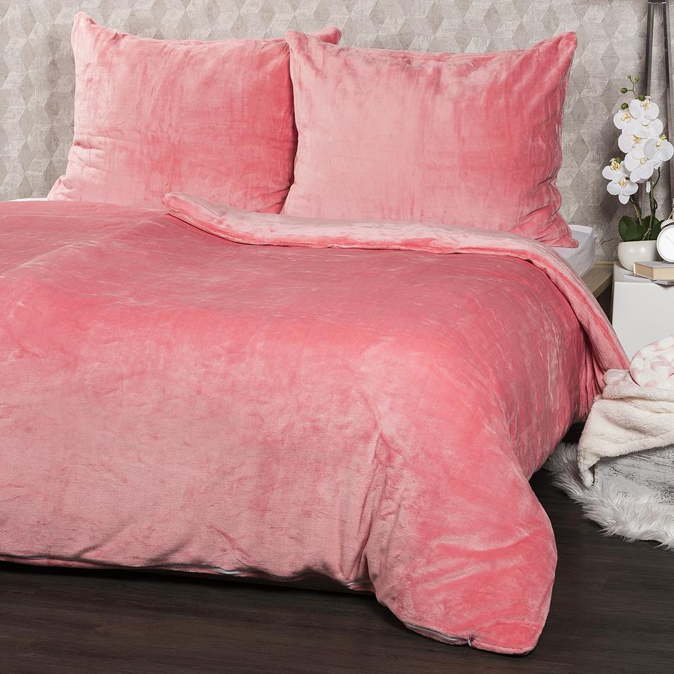 4Home mikroflanel ágynemű, rózsaszín, 140 x 200 cm, 70 x 90 cm