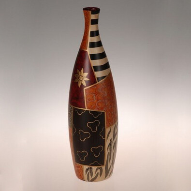 Keramická váza Safari, 46 cm, hnědá, 13 x 46 cm