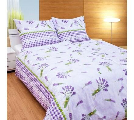 Bavlněné povlečení Levandulová s povlakem na polštářek zdarma, 140 x 220 cm, 70 x 90 cm