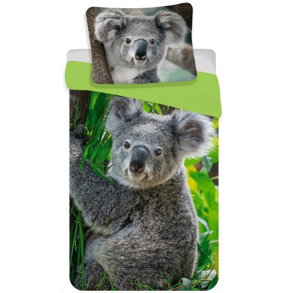 Jerry Fabrics Bavlněné povlečení Koala, 140 x 200 cm, 70 x 90 cm