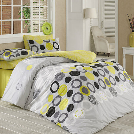 Bavlnené obliečky Beneton Yellow, 140 x 220 cm, 70 x 90 cm