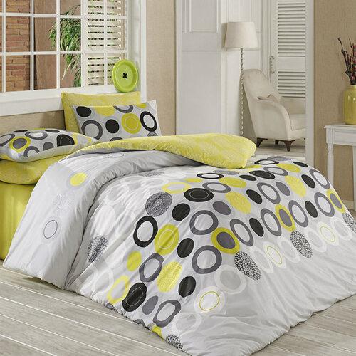 Tip Trade Bavlněné povlečení Beneton Yellow, 140 x 220 cm, 70 x 90 cm