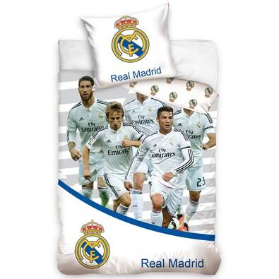 Bavlněné povlečení Real Madrid Team 8019, 140 x 200 cm, 70 x 80 cm