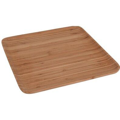 Dřevěný servírovací podnos, 33 x 33 x 15 cm