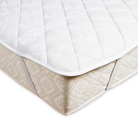 Chránič matrace z dutého vlákna, bílá, 90 x 200 cm