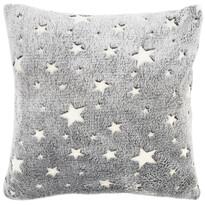 4Home Povlak na polštářek Stars svíticí šedá, 40 x 40 cm