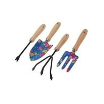 Koopman Sada záhradného náradia Flower Tools modrá, 4 ks