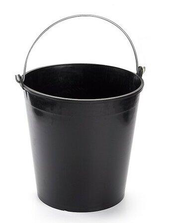 Kbelík SOLID s měrkou 15 litrů, černá