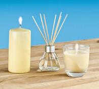 Sada vonných svíček a bytového parfému Vanilka