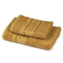 4Home Bamboo Premium törölköző és fürdőlepedő szett világosbarna színű, 70 x 140 cm, 50 x 100 cm
