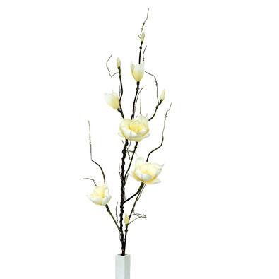 Umělá květína magnolie žlutá, 125 cm