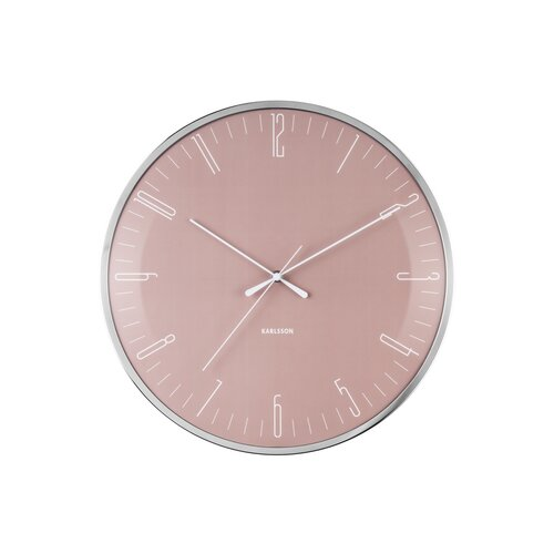 Karlsson KA5754PI Dizajnové nástenné hodiny, 40 cm