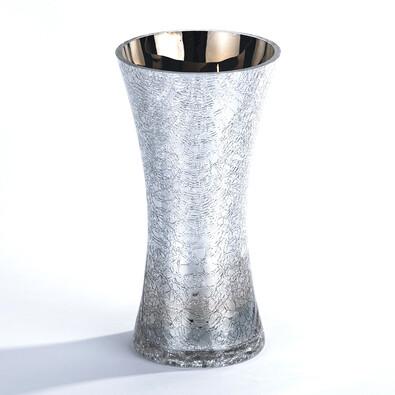 Váza skleněná praskaná 20 cm