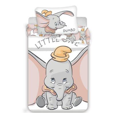 Detské bavlnené obliečky Dumbo grey stripe, 140 x 200 cm, 70 x 90 cm