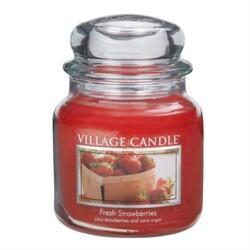 Village Candle Vonná sviečka Čerstvé jahody - Fresh Strawberry, 397 g