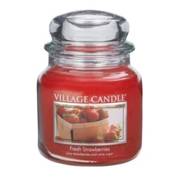 Village Candle Vonná svíčka, Čerstvé jahody - Fresh Strawberry, 397 g, 397 g