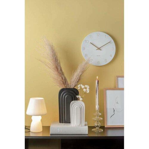 Ceas de design, de perete, Karlsson 5788WH, diam. 30 cm