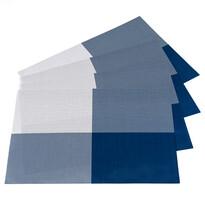 Podkładki DeLuxe niebieski, 30 x 45 cm, komplet 4 szt.
