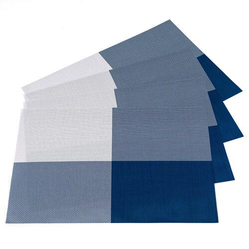 Prestieranie DeLuxe modrá, 30 x 45 cm, sada 4 ks