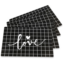 Suport farfurie Altom Love Black, 28 x 43 cm, set 4 buc.