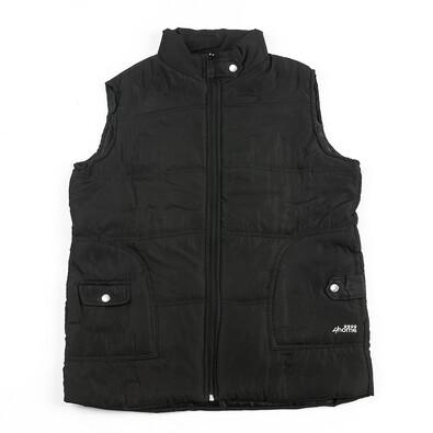 Prošívaná vesta (dámská), černá, XXXL